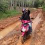 Jalan Menuju Desa Jermun Kec. Pampangan Nyaris Putus