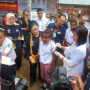 Perdana Menkes Kuker ke Bintuni Turut Tinjau Imunisasi Campak
