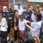 Menkes Lihat Siswa SD Picheti di Imunisasi Campak