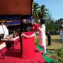 Sebanyak 30 Orang Personil Yon Komposit Hadiri HUT RI Ke 73,Di Kecamatan Bunguran Timur Laut.