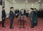 Pj. Bupati Tanggamus Hadiri Pelantikan Kepala Badan Pengawasan Keuangan dan Pembangunan Lampung