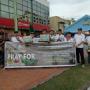 DPD AJO Indonesia Kepri Turun Kejalan Galang Donasi Untuk Palu-Sigi-Donggala